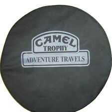 "SpareCover® Brawny Series - Camel Trophy 30"" Black Denim Tire Cover"