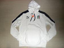 EURO 2012 TG XL ITALIA FELPA CAPPUCCIO BIANCA ITALY WINTER HOODED HOODY TOP