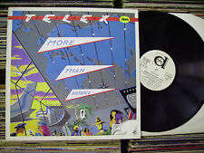 TELEX MORE THAN DISTANCE 1982 DURIUM ITALY PROMO WHITE LABEL LP