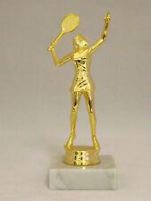 Tennis Figur  Damen Trophäe ca. 17 cm inkl. Gravur-Schild goldfarbig