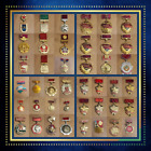 Collection Of 42 Vintage Soviet Russia Medal Badges- 100% Original