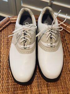 Etonic NWOB Womens Size 6.5 M Stabilite Golf Shoes Soft Spike Beige White