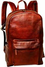 Vintage Large Genuine Leather Backpack Rucksack Travel Bag For Men's and Women's