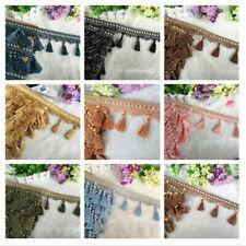 12 Yards Tassel Fringe Edging Trim Sewing Crafts Curtains Cushions Furnishings