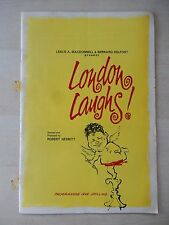 1960's - London Palladium Theatre Playbill - London Laughs - Harry Secombe