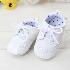 Baby Boy White Christening shower wedding Party pageboy PVC leather first Shoes