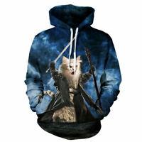 Unisex Adults 3D Cat Print Hoodie Sweater Sweatshirt Jacket Pullover Top New