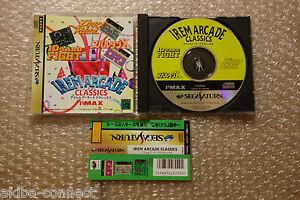 "Irem Arcade Classics ""Very Good Condition"" Sega Saturn Japan"