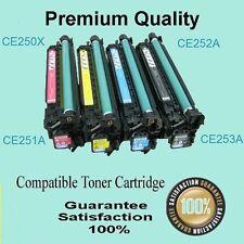 1 x Comp BK toner CE250X for HP CP3525 CP3525dn CM3530 CM3530 MFP CM3530fs 10.5K