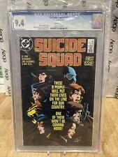 SUICIDE SQUAD #1 CGC 9.4 NM DC SUICIDE SQUAD FIRST DC Comics 5/87 White Pages
