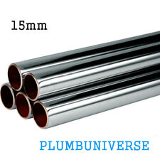15mm Chrome plated copper pipe/tube different sizes available chrome pipe