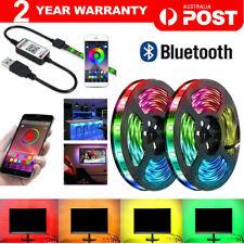 RGB LED Strip Lights IP65 Waterproof 5050 5M 300 LEDs 12V USB Bluetooth