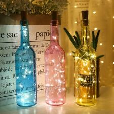 2M Battery Powered Wine Bottle Cork Lights Garland Copper Wire Fairy Christmas