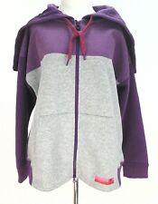 ADIDAS STELLA SPORT McCARTNEY Jacket Hoodie Gray/Purple Zip Up Women's XL $120