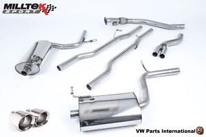 Audi A4 2.0 TFSI Quattro and DTM B7 Milltek Sport Cat Back Exhaust + Dual JetTip