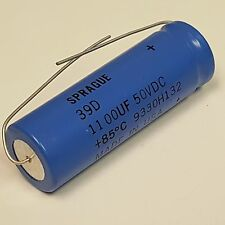Spague 39D Capacitor, 1100uF,  50Vdc,  9330H132