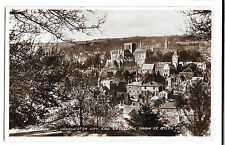 Hampshire, Winchester City & Cathedral from St Giles Hill, PPC 1946 Slogan PMK