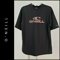 O'Neill Men Short Sleeve Dri Fit Black Graphic Tee Shirt Size Medium M Black