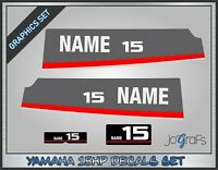 Yamaha 15HP Outboard Decals / Sticker Kit Marine Die-Cut Vinyl