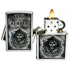Zippo Sons of Anarchy 'Fear the Reaper' Windproof Lighter - Satin Chrome - 28502