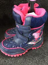 BNWT M&S Marks Spencer Girls Snow Winter Peppa Pig Navy Boots 8