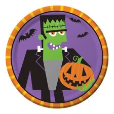 "Creepy Characters 8 Ct 7"" Dessert Plates Halloween Party Frankenstein"