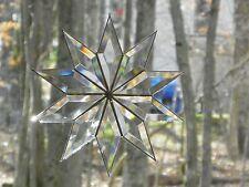 Bevelled 10 point Glass Star suncatcher,  Window Hanging Ornament