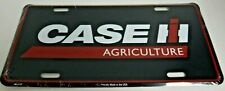 Case IH Agriculture Black with Red Outline License Plate