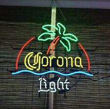 "New Corona Light Palm Tree Beer Bar Wall Decor Handmade Neon Sign 17""x14"""