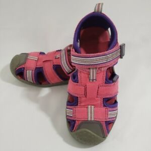 PEDIPED SANDALS OUTDOOR SHOES GUC SIZE 9 GIRLS WASHABLE PINK/PURPLE STRAPS