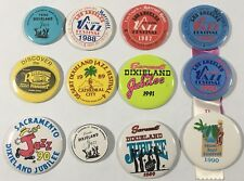 Vintage Jazz Festival Button Lot of 12 1980s 90s Dixieland and Jazz Collectible
