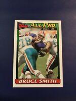 1991 Topps # 59 BRUCE SMITH All Pro Buffalo Bills Hall Of Famer Sharp LOOK !