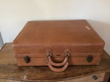 "VINTAGE HARTMANN 25"" Knocabout Brown Tan Belting Leather Suitcase Luggage Prop"
