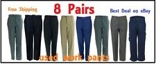 8 Uniform Work Pants - USED- 8 Pairs - FREE SHIPPING