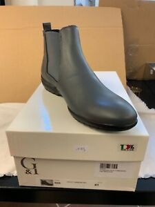 ja118#Aus Insolvenz: Wunderschöne Herren Stiefeletten G&I Italy Grau Gr.40