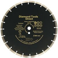 Diamanttrennscheibe 350 mm  x  20 mm Diamantscheibe Beton - 10 mm Flexscheibe