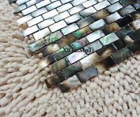 11PCS Black Lip Shell Mosaic Tile Mother of Pearl Kitchen Backsplash Decoravtive