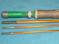 "VINTAGE BAMBOO FLY FISHING ROD WITH 2 ENDS 1 EYELET missing 100-1/2"" LONG"