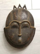 African Mask Wood Baule moon mask Tribe Mask