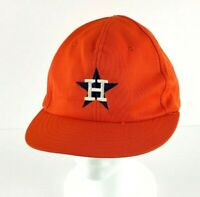 Vintage 80s MLB Baseball Houston Astros Orange Snapback Hat/Cap