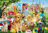 500 Pieces Jigsaw Puzzle Playful Cats & Dogs - Brand New & Sealed