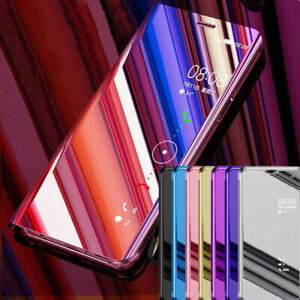 Case For Samsung Galaxy Note9 10 Plus Luxury Clear View Leather Flip Cover Stand