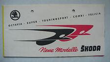 Prospekt skoda Octavia/Super/combi, Felicia/Cabrio, 1956, 8 páginas, Folder