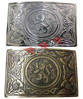 Scottish Buckle kilt Lion Rampant Kilts Belt Buckle Chrome Antique Finish AAR