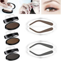 EYEBROW STAMP Powder Palette Natural Definition Brow Makeup Cosmetic Brown IW