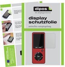 6x Bertronic BC02 Royal MP3-Player Pellicola Protettiva Protezione Schermo opaco