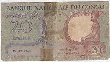 Congo Dem Rep P 4 - 20 Francs 1962