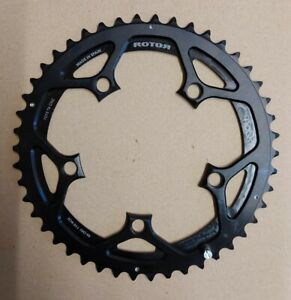 Rotor noQ 46T Chainring, 10 / 11 Speed, Double, 110 BCD 5 Bolt - Black PM4
