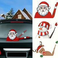 Frohe Weihnacht-Auto-Aufkleber-Wischer-Weihnachtsmann-Schneemann-Elch-Abziehbild