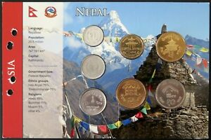 3.NEPX02 - COINSET NEPAL - 7 pièces 10 paisa à 10 roupies